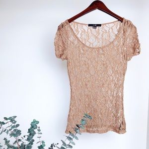 Lace Nude Top